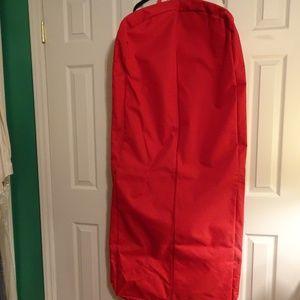 "Red Canvas Garment Bag 54"" x 24"""
